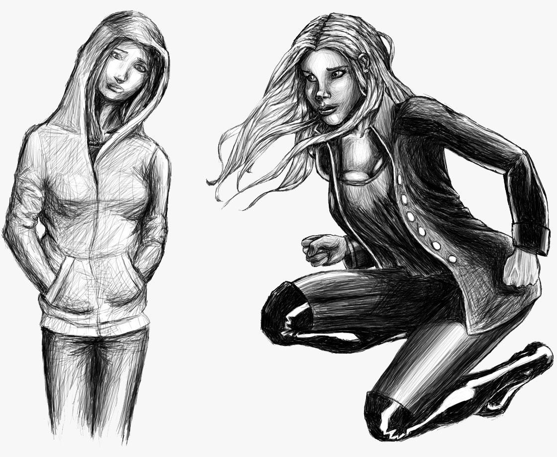 Character Design Graphic Novels : Sketches teejunctionworld