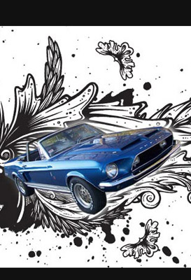 shelby mustang graphics