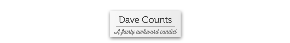 Dave Counts - a fairly awkward candid